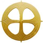 Aureola para Jesús con Cruz dorada interior