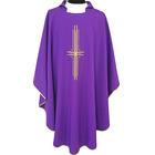 Casulla con Cruz bordada | Cuatro colores litúrgicos morado