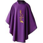 Casulla en los cuatro colores litúrgicos con estola a juego blanco