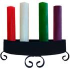 Corona de Adviento de forja con las cuatro velas