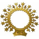 Aureola dorada con estrellas y flores de lis