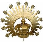 Corona y aureola con rayos y estrellas