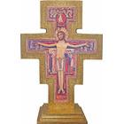 Cruz de San Damián de madera para mesa