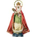 Virgen de la Candelaria con corona y aureola