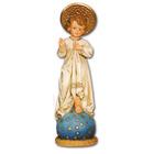 Niño Jesús de resina con aureola