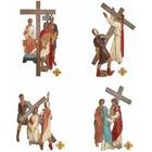 Vía Crucis con estaciones de poliéster policromado