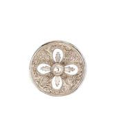 Aureola de plata con cuatro rayos