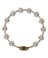Aro de metal decorado con doce estrellas