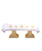 Mantel de altar con Cruces de Jerusalén