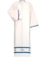 Alba con Cruces bordadas - Cremallera en hombro