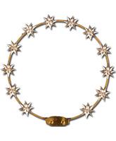 Aro de metal con doce estrellas