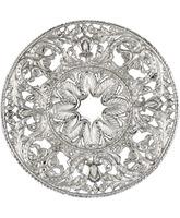 Aureola de plata para figura religiosa
