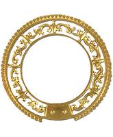 Aureola de metal con decoración en relieve