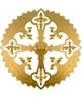 Aureola de metal con Cruz interior