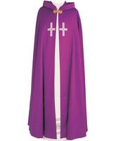 Capa pluvial con Cruces bordadas a mano
