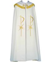 Capa pluvial con Cruz bordada en hilo de oro