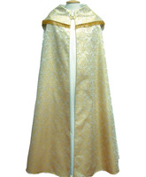 Capa pluvial damasco fleco en hilo de oro