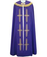 Capa pluvial de poliéster en los cuatro colores litúrgicos