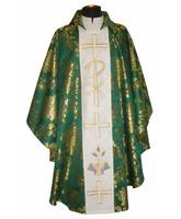 Casulla brocada en los cuatro colores litúrgicos