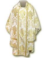 Casulla brocada en los cuatro colores litúrgicos con estola
