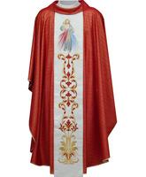 Casulla bordada con imagen del Cristo Misericordioso