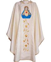 Casulla con Sagrado Corazón de María bordado