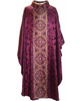 Casulla de seda y lúrex en los cuatro colores litúrgicos