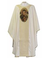 Casulla con estolón de Nuestra Señora del Perpetuo Socorro