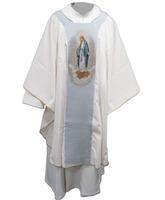 Casulla mariana con estolón Milagrosa