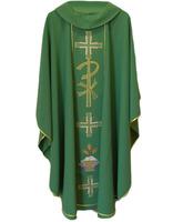 Casulla con cuello monacal en los cuatro colores litúrgico