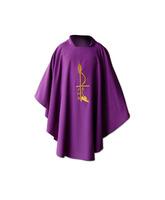 Casulla en los cuatro colores litúrgicos con estola a juego