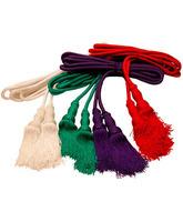 Cíngulo de seda en los cuatro colores litúrgicos
