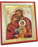 Icono bizantino Sagrada Familia - 13 x 10,5 cm.