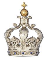 Corona imperial con Cruz y brillantes