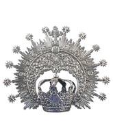 Corona y aureola con baño plata
