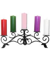 Corona de Adviento con cinco velas de colores