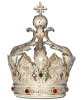 Corona de plata con piedras incrustadas