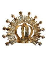 Corona imperial y aureola con brillantes