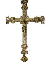 Cruz parroquial fabricada en bronce