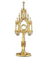 Custodia de bronce con base octogonal