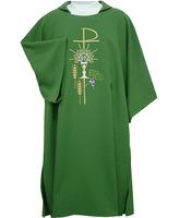 Dalmática de poliéster en los 4 colores litúrgicos