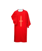 Dalmática en los cuatro colores litúrgicos con Cruz