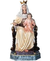 Virgen del Carmen sentada con el Niño