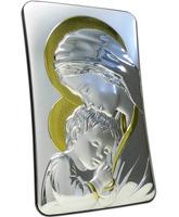 Icono de plata 23,5 cm - Virgen María con Niño