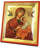 Icono bizantino Perpetuo Socorro - 13 x 10,5 cm.