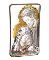 Icono de plata 13 cm. - Sagrada Familia