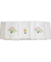 Mantel para altar de poliéster y algodón con puntilla