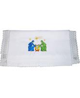 Mantel para altar con bordado de Navidad