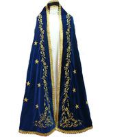 Manto para Virgen de terciopelo con estrellas