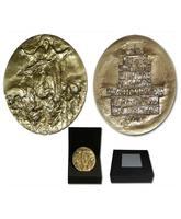 Medallón de bronce recuerdo del Año Santo